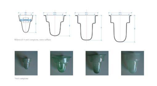 Rilievo e catalogazione dei diffusori in vetro dei lampadari esistenti (cortesia: Metis Lighting)