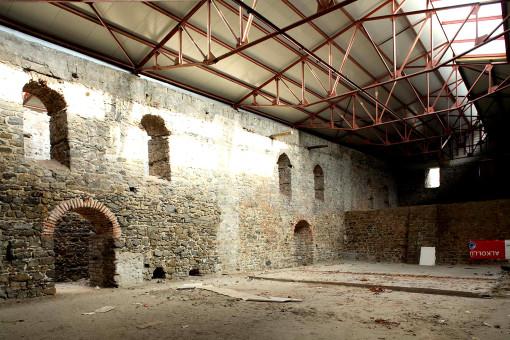 La struttura storica dell'edificio di epoca ottomana, prima dei lavori di ristrutturazione (cortesia: Studio Paola Urbano)
