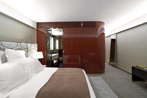 Bulgari Hotel, Londra. Un'immagine di una delle camere (courtesy photo: Leo Torri)