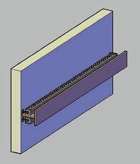 Dettaglio con la gola architettonica per i LED