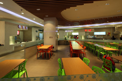 Jinyu Vanke Plaza Retail. Interior Design: Food Court (courtesy: LDPI)