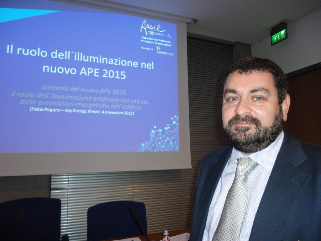 Fabio Pagano, presidente della Commissione UNI Luce e Illuminazione e responsabile tecnico ASSIL (cortesia: ASSIL)