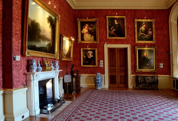 Ickworth House. Bury St. Edmunds, Suffolk, England. La Smoking Room (courtesy photo: National Trust Images)
