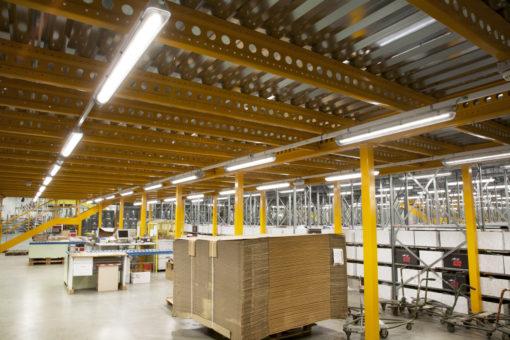 Valdengo. Gruppo Bonprix Italia. Un'immagine della nuova illuminazione della struttura (courtesy photo: 3F Filippi)