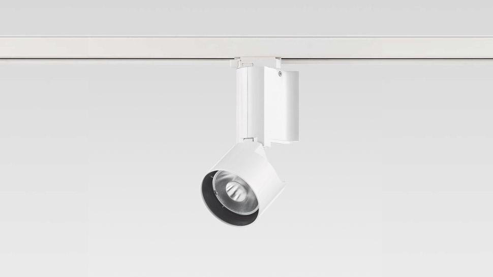 """L'apparecchio """"Sunios"""" LED 13 W, a binario (courtesy: Reggiani Illuminazione)"""