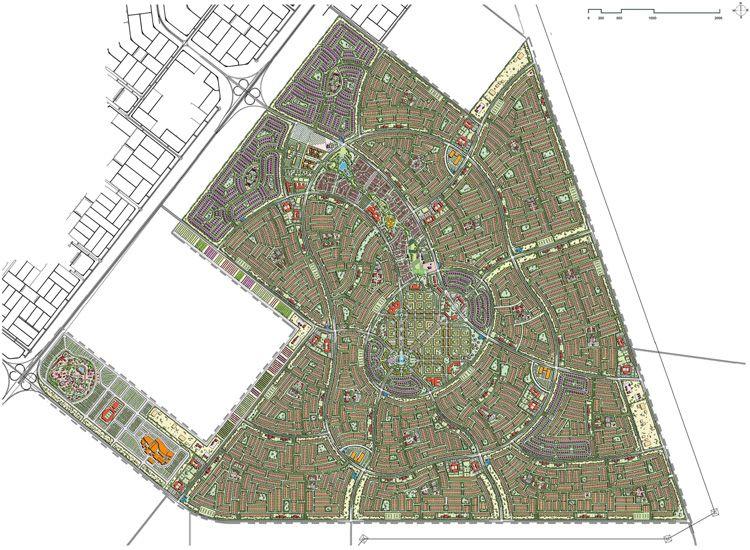 """Il piano urbanistico per area urbana di """"Shamkha South"""" (courtesy: Reverberi Enetec)"""