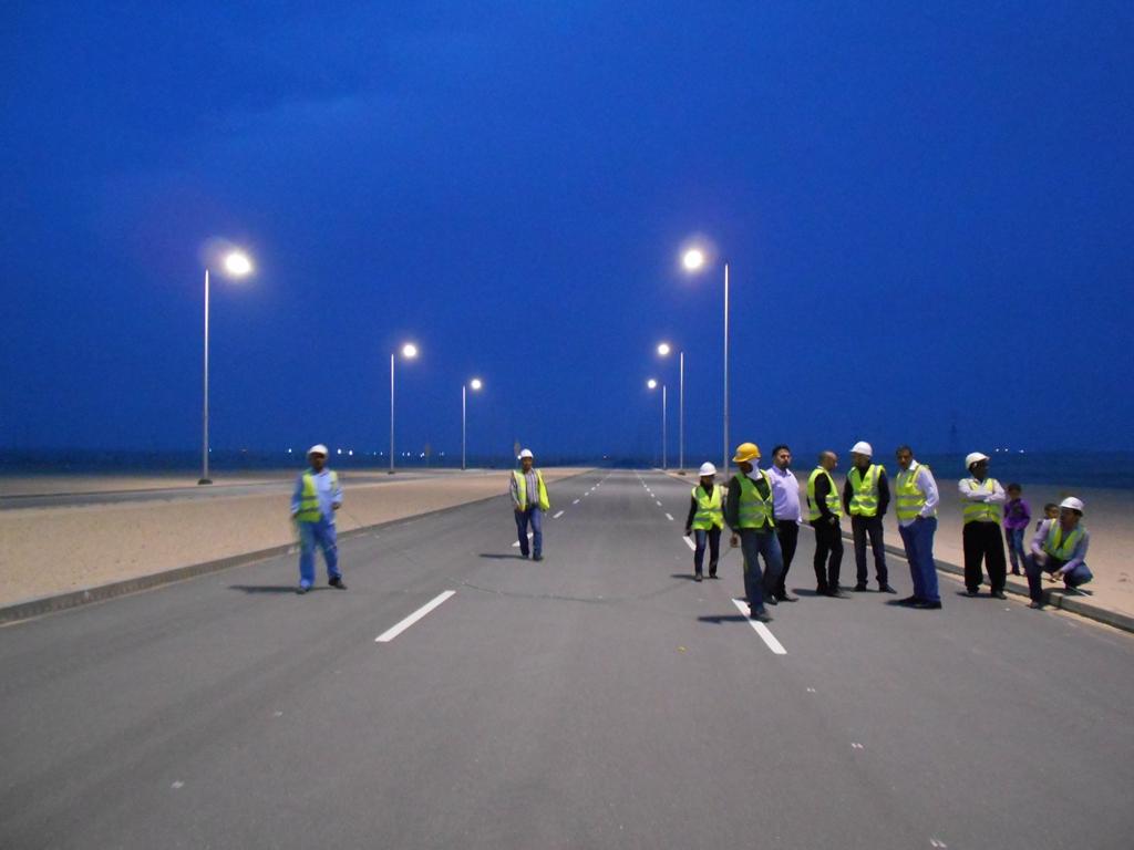 Al Shamkha. Prove di accensione dell'impianto di illuminazione (courtesy: Reverberi Enetec)