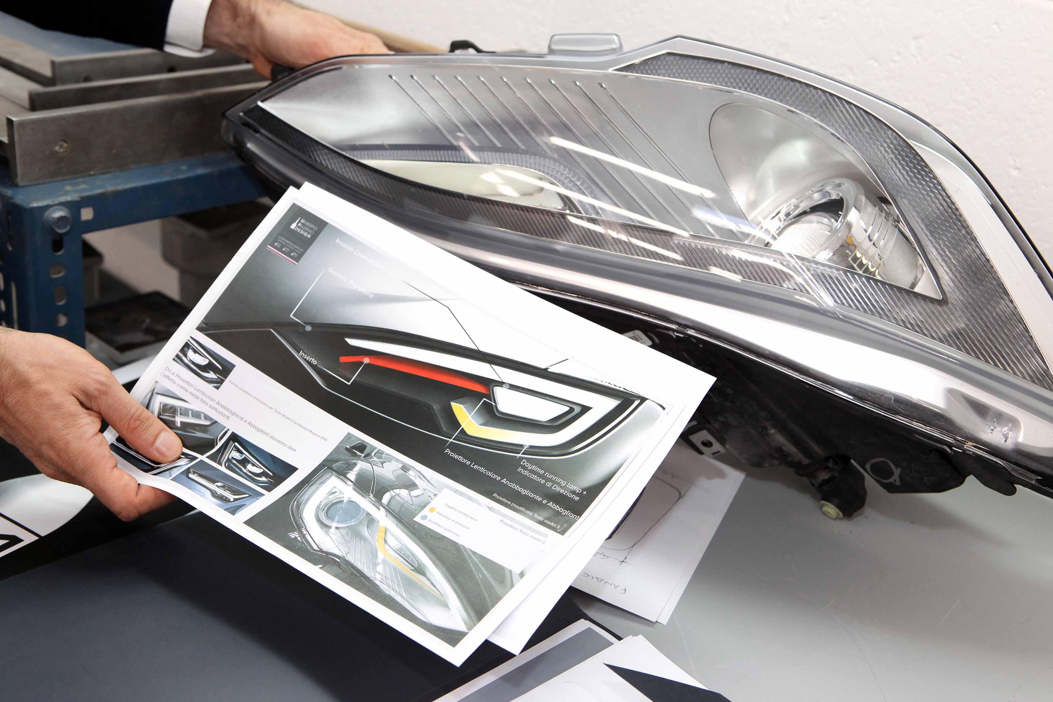 La scatola faro del progetto Tesla Valentino (courtesy photo: Skorpion Engineering)