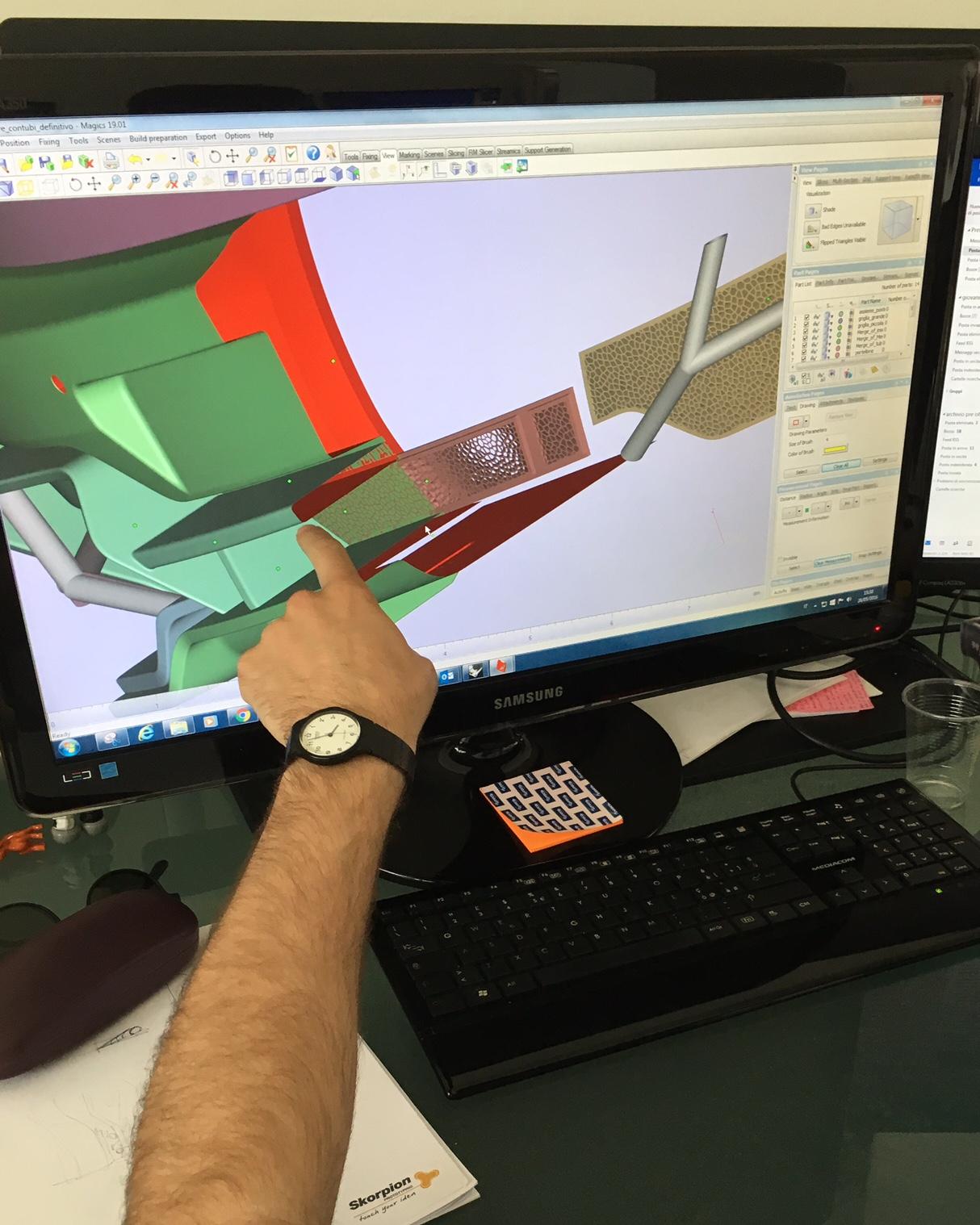 Progetto Tesla-Valentino. Una delle fasi di modellazione (courtesy photo: Skorpion Engineering)