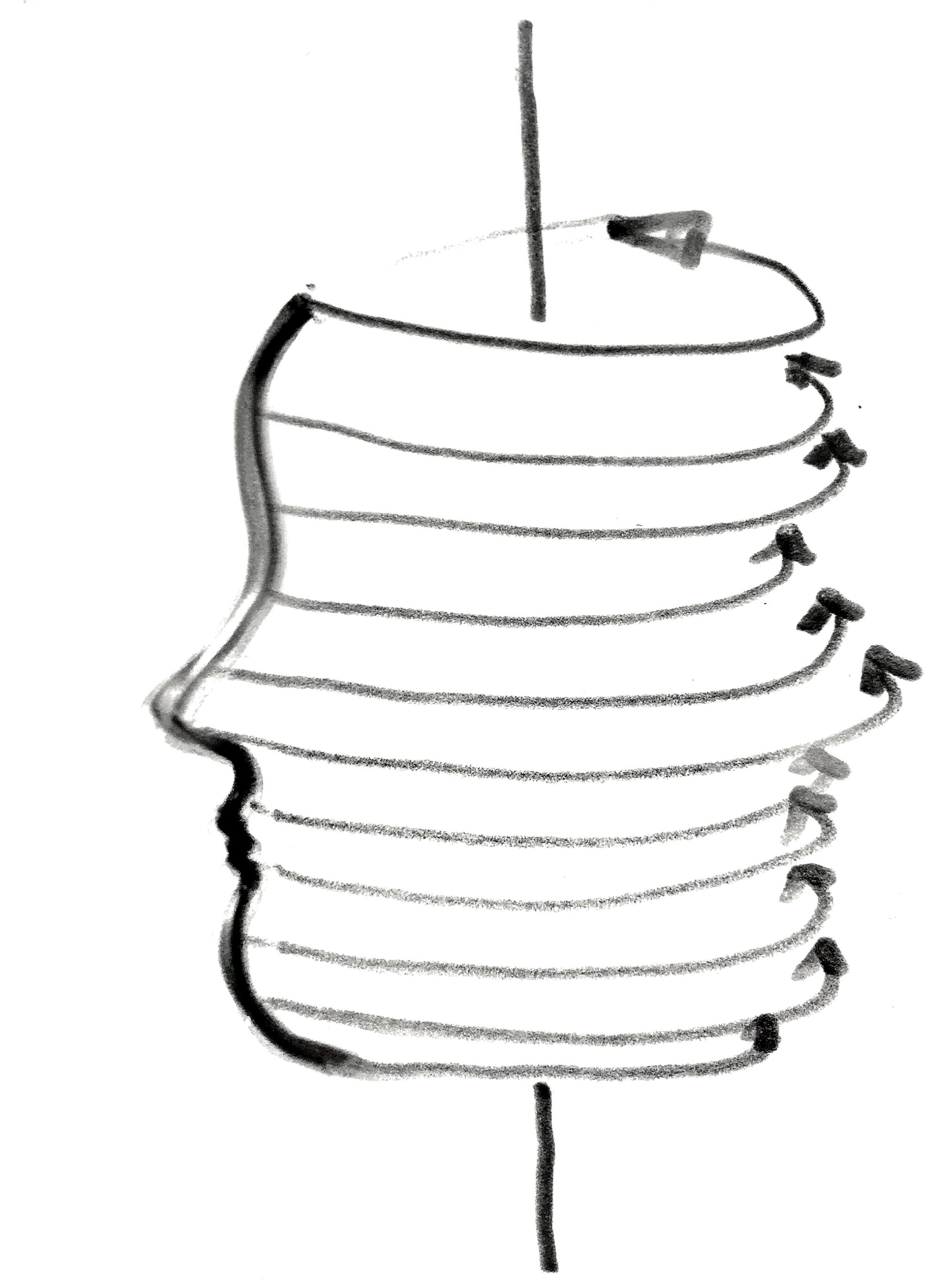 """Schizzo di progetto per la lampada """"MyLux3D"""" (courtesy: Design for Craft)"""