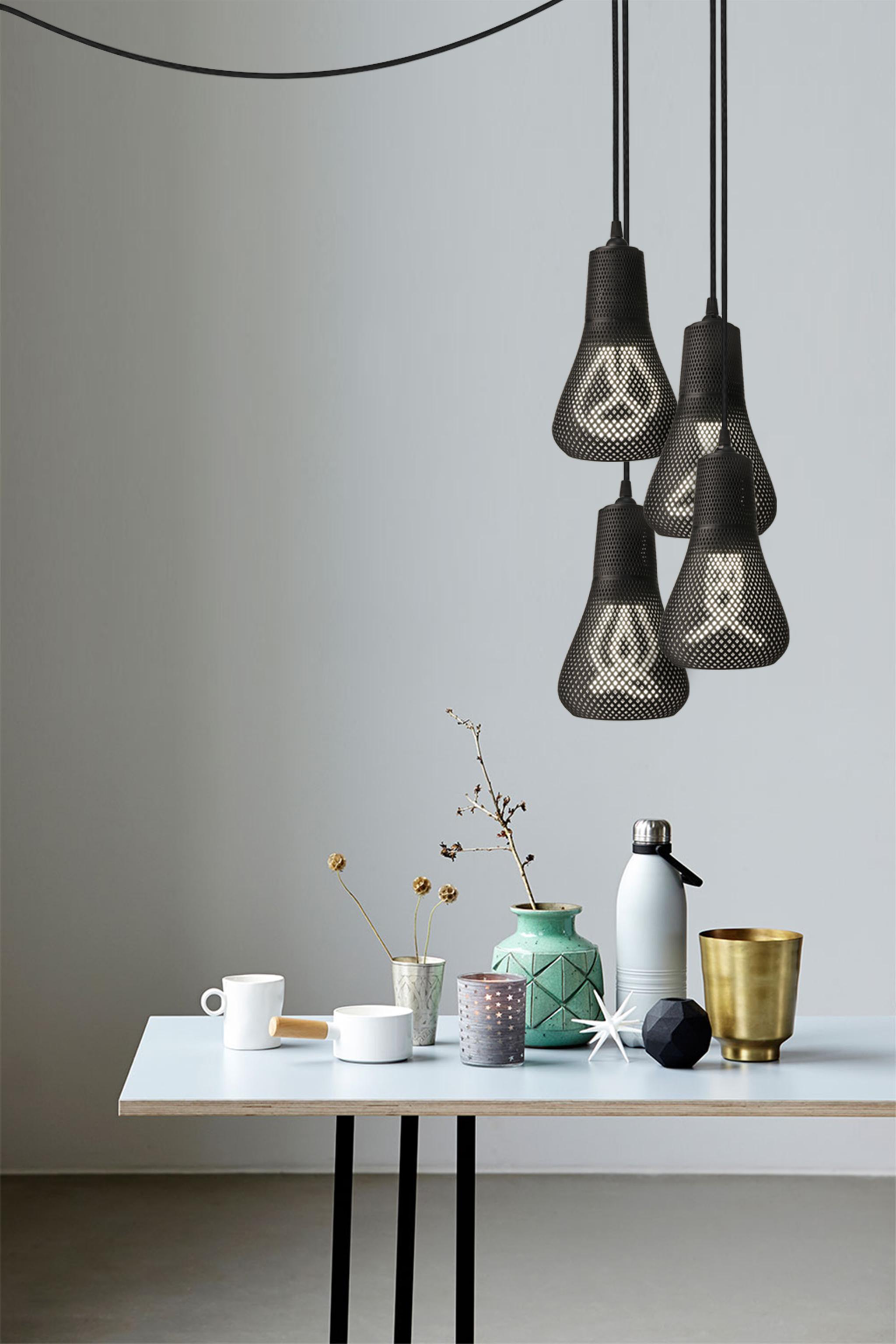"""La lampada """"Kayan"""" realizzata con tecnologia additiva (courtesy: Formaliz3d)"""