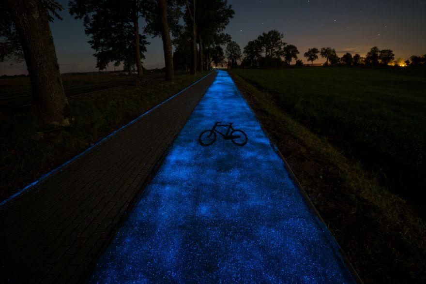 Un'altra immagine della pista ciclabile in Polonia