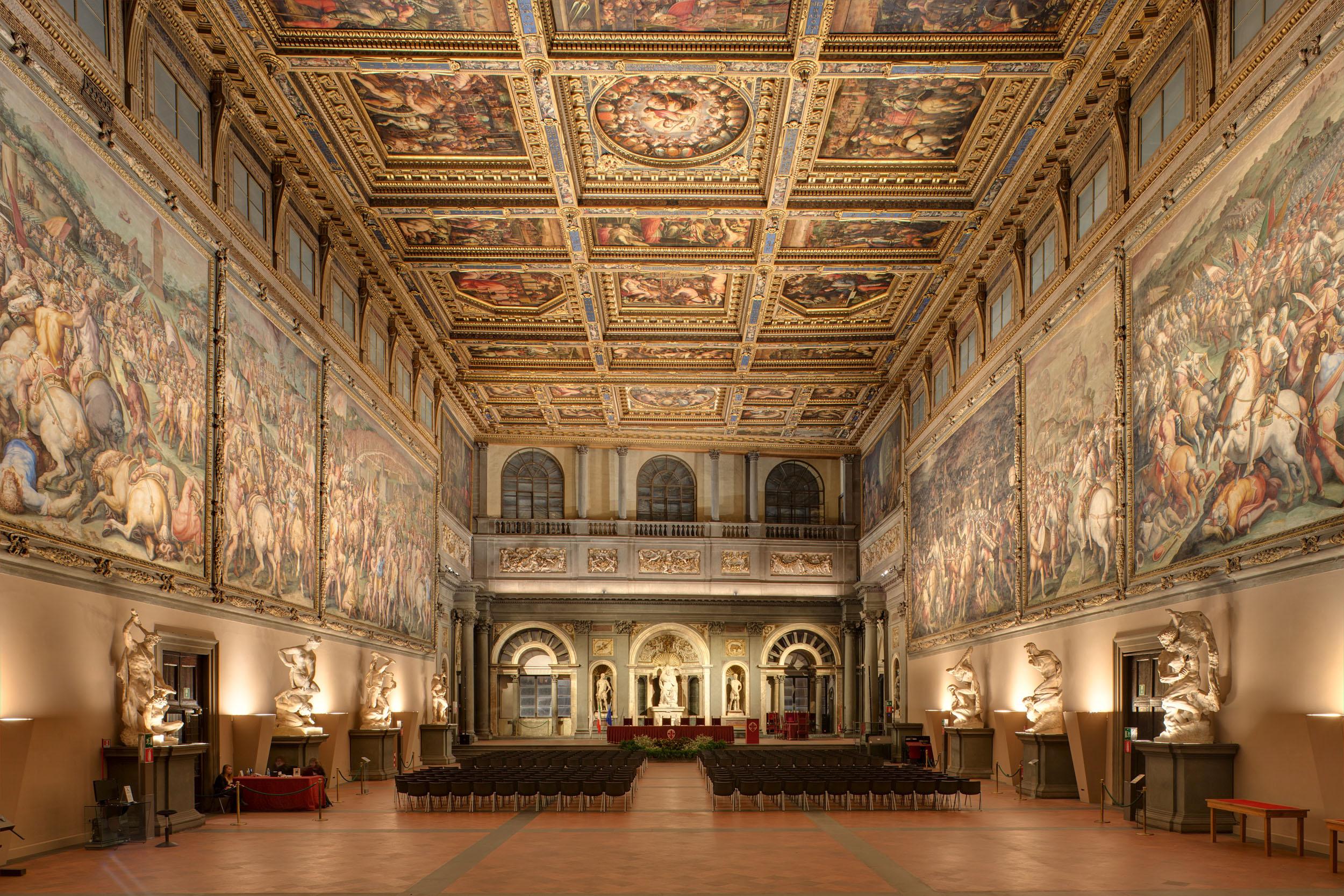 Sala Dei 500 Firenze.Un Progetto Di Luce Ad Hoc Per Il Salone Dei Cinquecento